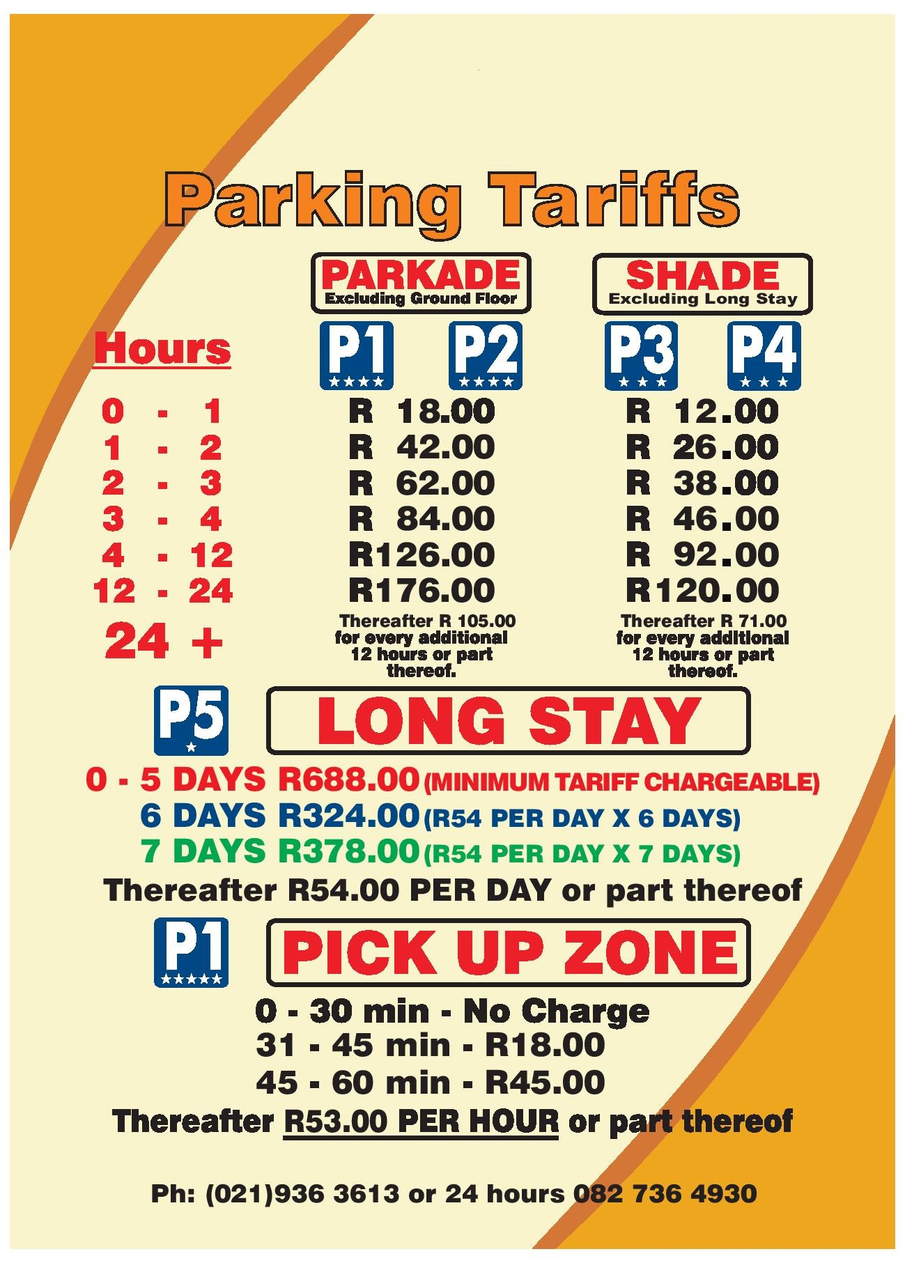P1 Parkade Normal And Pick Up Zone
